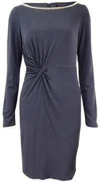 Jessica Simpson Women's Jersey Twist-Front Sheath Dress