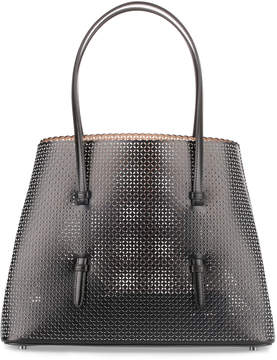 Alaia Black and white leather laser-cut bag