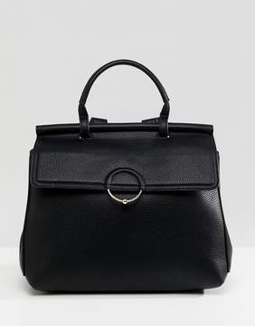 Asos DESIGN backpack with ring and ball detail