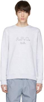 A.P.C. Grey US Star Logo Sweatshirt