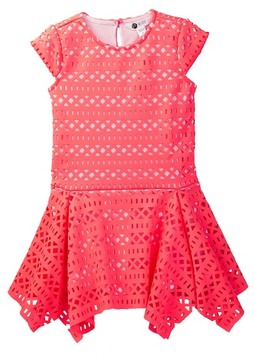 Petit Lem Laser-Cut Dress (Toddler & Little Girls)