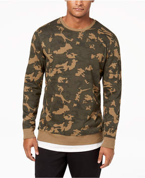 American Rag Men's Layered Camo Sweatshirt, Created for Macy's