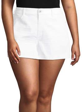 Arizona 2 1/2 Denim Shorts-Juniors Plus