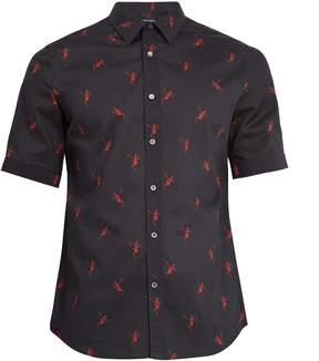 Alexander McQueen Dancing skeleton-print cotton short-sleeved shirt