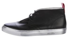 Del Toro Leather Mid-Top Sneakers