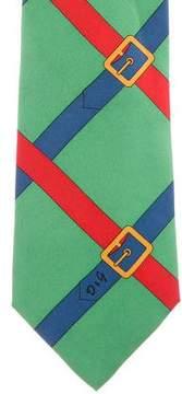 Dolce & Gabbana Belt Print Silk Tie