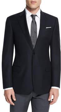 Armani Collezioni G-Line New Textured Two-Button Sport Jacket, Black
