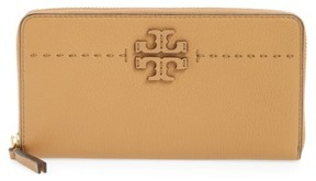 Tory Burch Women's Mcgraw Leather Continental Zip Wallet - Beige - BEIGE - STYLE