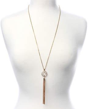 Amrita Singh Crystal & Goldtone Tassel Otto Lariat Necklace