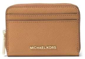 MICHAEL Michael Kors Zip-Around Leather Card Case