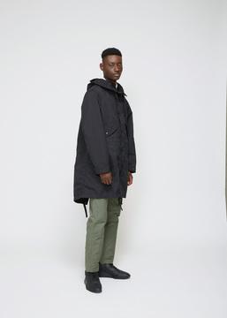 Engineered Garments Black Ripstop Highland Parka