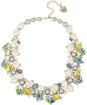 Betsey Johnson CRABBY COUTURE SHELL STATEMENT NECKLACE