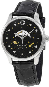 Gucci G-Timeless Black Motifs Dial Moonphase Watch