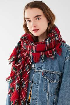 Urban Outfitters Classic Tartan Square Blanket Scarf