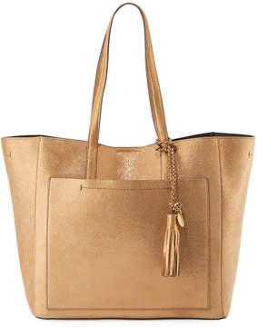 Cole Haan Natalie Unlined Metallic Tote Bag, Bronze
