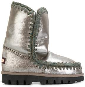 Mou metallic winter boots
