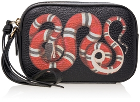 Gucci Leather Snake Printed Camera Bag - ONE COLOR - STYLE