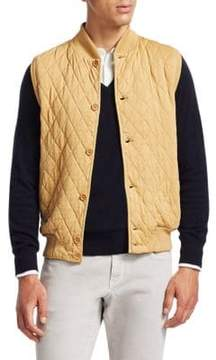 Loro Piana Quilted Cashmere-Blend Vest