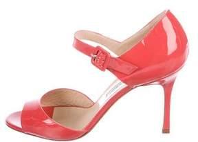 Manolo Blahnik Caldo Patent Leather Sandals