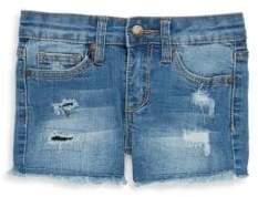 Joe's Jeans Little Girl's Mid-Rise Distressed Denim Shorts