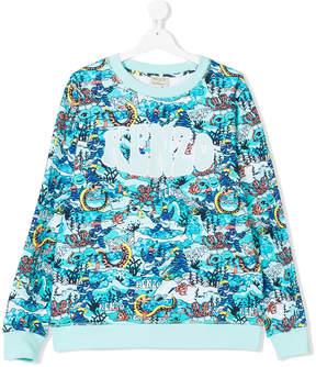 Kenzo Teen sea creature printed sweatshirt
