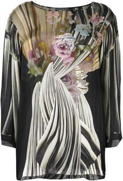 Alberta Ferretti floral print blouse