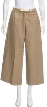 Dusan Leather High-Rise Pants