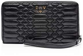 Zadig & Voltaire Compagnon Savage Embossed Leather Wallet