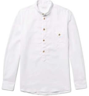Richard James Slim-Fit Grandad-Collar Linen Shirt