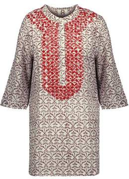 Figue Jasmine Bead-Embellished Printed Cotton-Gauze Tunic