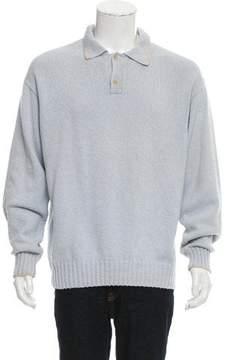 Loro Piana Rib Knit Polo Sweater