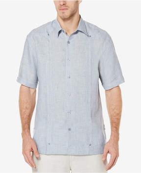 Cubavera Men's 100% Linen Textured Panel Shirt