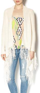 Double Zero Vanilla Fringed Cardigan