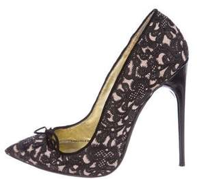 Tom Ford Embroidered Bow Pumps