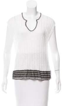 White + Warren Sleeveless Rib Knit Top