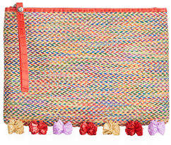 Sam Edelman Rosalind Straw Clutch Bag
