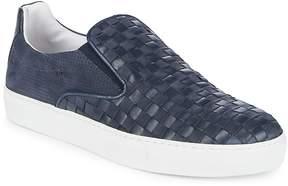 Bacco Bucci Men's Woven Leather Sneakers