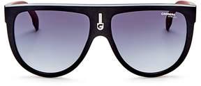Carrera Flat Top Aviator Sunglasses, 60mm