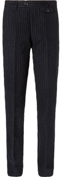 Oliver Spencer Fishtail Pinstriped Virgin Wool Trousers