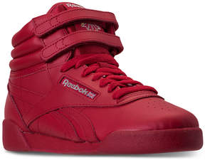 Reebok Big Girls' Freestyle High Top Casual Sneakers from Finish Line