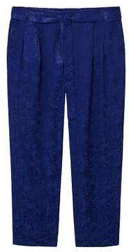 Violeta BY MANGO Jacquard fluid trousers