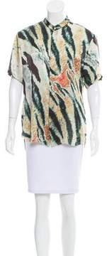 Baja East Printed Silk Top w/ Tags