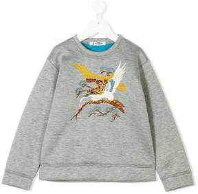 Dondup Kids bird embroidered sweatshirt