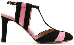 L'Autre Chose striped T-bar sandals