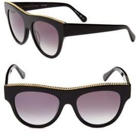 Stella McCartney 52MM Flat Top Round Sunglasses