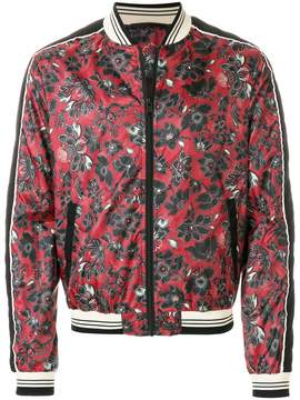 Just Cavalli floral printed bomber jacket