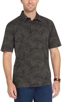 Van Heusen Short Sleeve Floral Jersey Polo Shirt