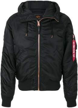 Alpha Industries hooded bomber jacket