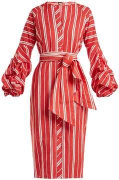 DAY Birger et Mikkelsen JOHANNA ORTIZ Striped balloon-sleeve linen dress