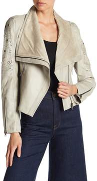 Desigual Perforated Faux Leather Jacket